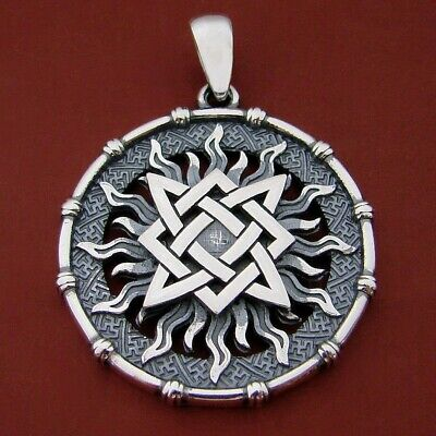 Svarog square in the Sun ancient slavic symbol norse symmetry pagan pendant