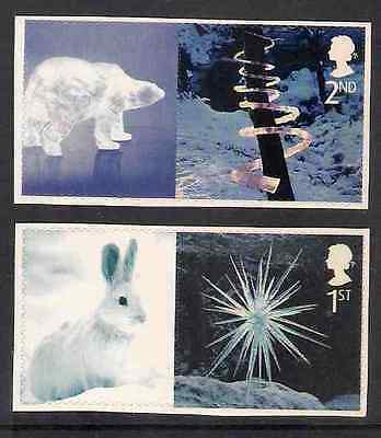 GB 2003 sg LS15 & LS16 Christmas Smiler Sheet Set Of 2 Single Stamps Litho MNH