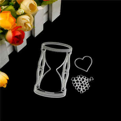 3x Love Hourglass Metal Cutting Dies For DIY Scrapbooking Album Paper Cards ZF