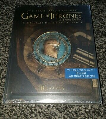 Game Of Thrones Blu Ray season 6 blu ray steelbook new and sealed French import