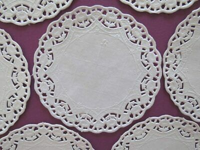 "250 x White Round Paper Doilies Doylies Doyleys 3.5"" 8cm Tray Papers,Craft"