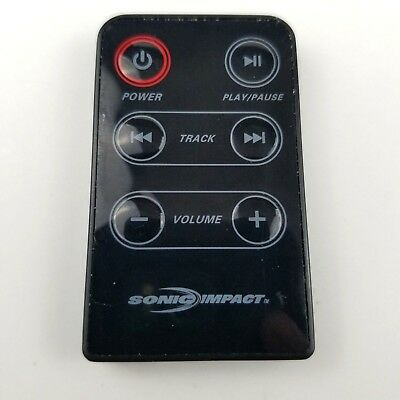 Genuine Sonic Impact i-F2 Portable iPod Speakers Remote Control