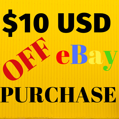 $10 USD DISCOUNT ON ANY EBAY PURCHASE screwdriver cordless drill voucher gift