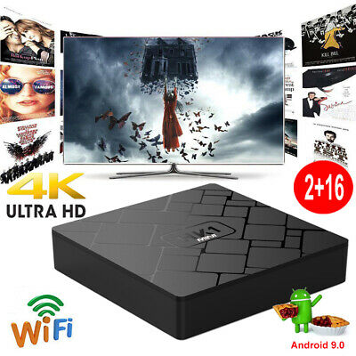 HK1MINI 2+16G Android 9.0 Quad Core Smart TV BOX 4K Media Player MINI PC 3D Film