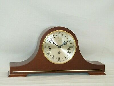 Hermle Bentima 8 Day Mahogany Westminster Chime Napoleon Mantle Mantel Clock