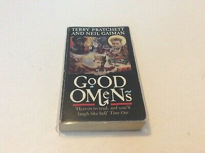 Good Omens by Neil Gaiman, Terry Pratchett  Signed Corgi Paperback, Pub In 1991.