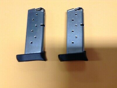 Used Sig Sauer P938 Magazine 9mm Stainless Extended 7 Rounds - Lot of 2