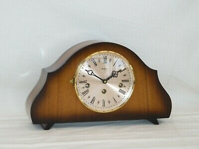 Bentima Hermle 8Day Walnut Westminster Chime Napoleon Style Mantle Mantel Clock