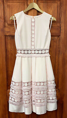 Ted Baker NEW Pink Lace Wedding Cocktail Occasion Prom Dress Sizes 0-5 & UK 6-16
