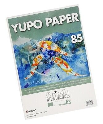 Frisk Yupo White Synthetic Painting Paper Loose Sheets A4 - Pack 1- 25 Sheets