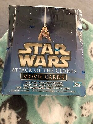 Topps Star Wars Attack Of The Clones Trading Cards Sealed Box