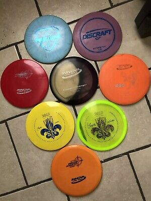 Disc Golf Lot Of 8 New and Uaed