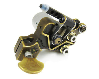 TURBO Sidewinder Rotary Tattoo Machine with Hybrid Springs Action (Brass)