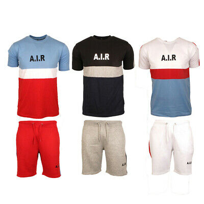 Mens Compass Short TrackSuit T-shirt Top Bottom Sports Athleisure Pants Trousers