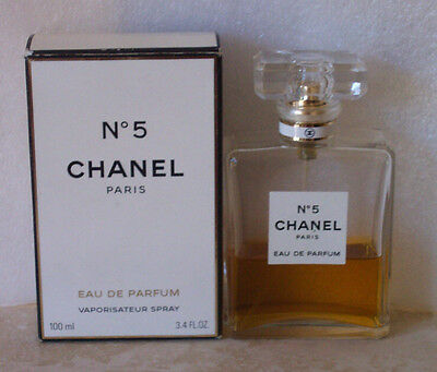 Vintage (?) Chanel No5 Eau de Parfum Spray 3.4oz 40% Full