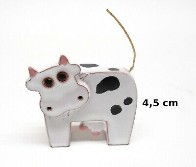 vache ,figurine fait main, miniature en porcelaine de collection, koe, kow, A1-B