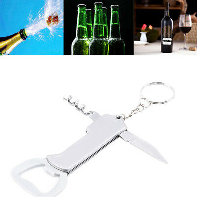 Stainless Steel Cork Screw Corkscrew MultiFunction Wine Bottle Cap Opener Hot QP