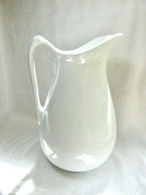 "Antique  POWELL & BISHOP IRONSTONE PITCHER - 12.75"" Tall - ENGLAND - 1867 -1878"