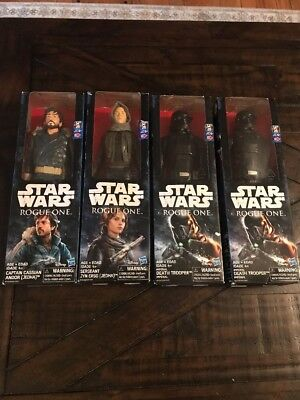 New Star Wars Rogue One 12 Inch Figure Lot (4) Andor Jyn Erso Death Trooper x2