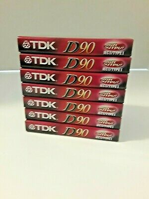 Unopened 4 TDK D90 90 Minute High Output Audio Cassettes