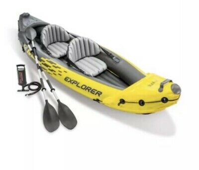 Explorer K2 Inflatable Kayak with Oars and Hand Pump