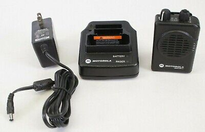 Motorola Minitor V 462-469.9875 MHz 2 Channel Fire EMS Pager (Engraving)