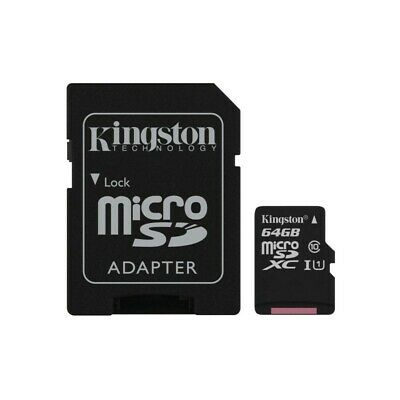 Tarjeta de memoria Kingston Canvas Select microSDXC de 64GB + adaptador SD con h