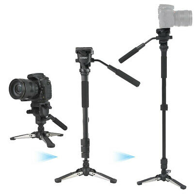 288 Camera Monopod Fluid Pan Head Stand Unipod Base Tripod for Canon Nikon DSLR
