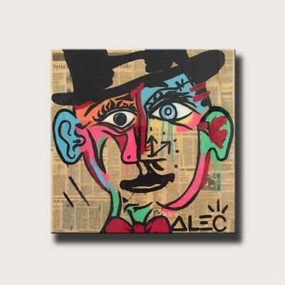 """Alec Monopoly Picasso Home Decor Room HD Canvas Print Wall Art Painting 16x16"""""""