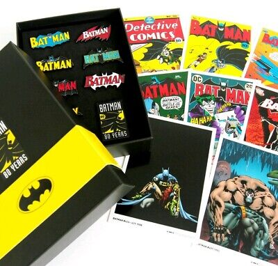 Batman 80th Anniversary Limited Edition pack pins and art work! Sealed and new