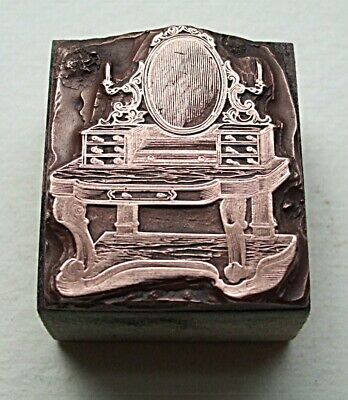 "Victorian ""Duchess Dressing Table"" Printing Block."