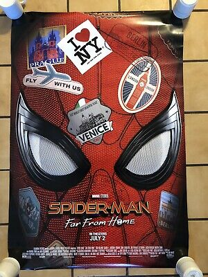 SPIDER-MAN FAR FROM HOME MOVIE POSTER 2 Sided ORIGINAL D/S 27x40 TOM HOLLAND