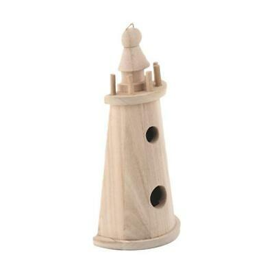 Bare Wood 20cm Flatback Lighthouse #8137