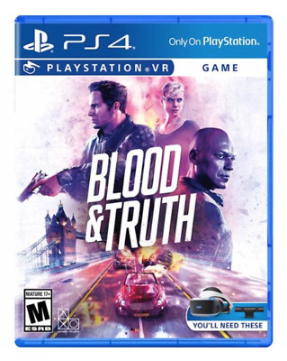 Blood & Truth (PlayStation 4, Playstation VR) Brand New