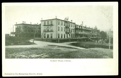 1900s CHELSEA MA PostCard - SOLDIERS HOME - Massachusetts PC