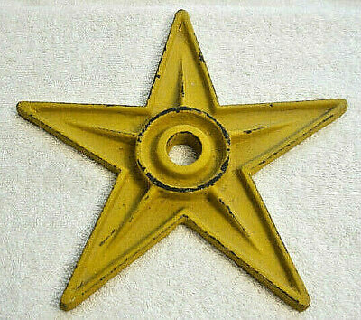 "Cast Iron Architectual Star 9"" L Stress Washer Rustic Yellow (Usa Seller) Used"