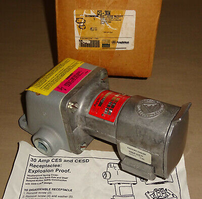 Appleton CES3034 Explosion Proof Receptacle 30A CES-3034 3W4P NEW