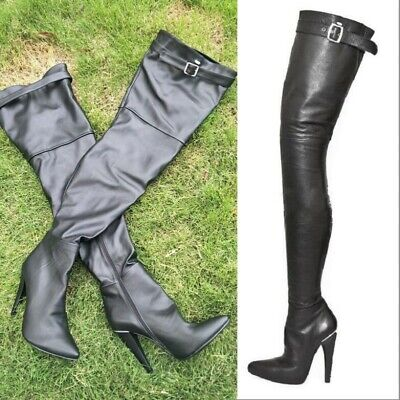 Women's Sexy Stilettos Black Nightclub Thigh High Over Knee Thigh Boots Sexy New