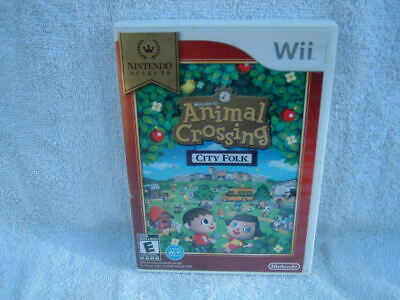 Animal Crossing City Folk Nintendo Selects Wii With Box And Manual
