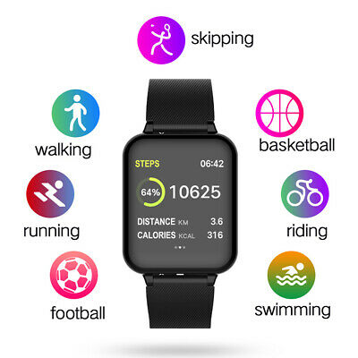 Smart Watch for Android and iOS Phones Fitness Tracker Blood Pressure Monitor