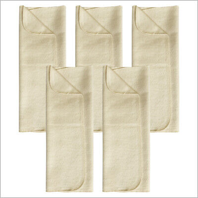 Prefold Diaper Booster Pads for Baby and Toddler, 100% Organic Brushed Cotton
