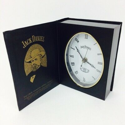 Jack Daniels Vintage 80s Rare Book Clock Old No. 7 Tennessee Whiskey Promo works