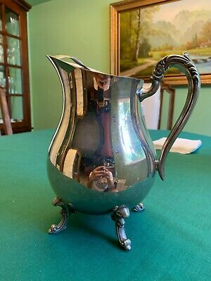 Beautiful 1883 Vintage F.B. Rogers Silver Co. Water Pitcher w/ Ice Lip