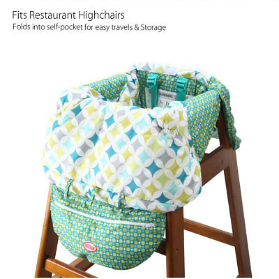 Fodable Baby Kid Child Shopping Trolley Cart Seat High Chair Cover Protector Pad