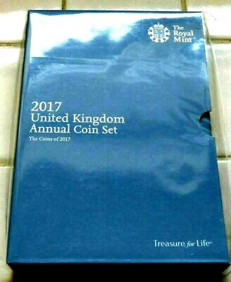 2017 Royal Mint Annual coin set in sealed folder, 13 coins