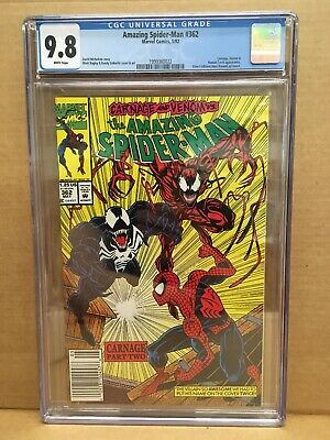 Amazing Spider-Man #362 CGC 9.8 w/ WHITE pages! Carnage & Venom App. Marvel UPC