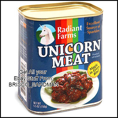 Fridge Fun Refrigerator Magnet UNICORN MEAT CAN Photo Magic Specialty Die-Cut