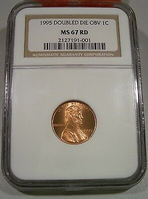 NGC 1995 MS67 Red 1C Lincoln penny DDO Double Die Obverse Very Clean Spot Free