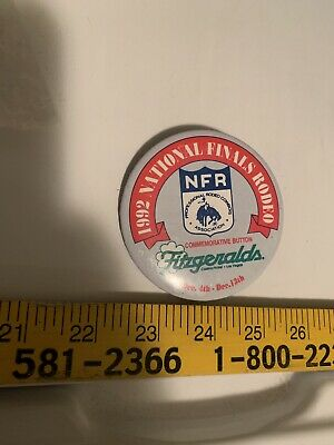 Old NFR button 1992 National Finals Rodeo Fitzgeralds Commemorative Button