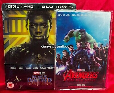 Black Panther 4K Lenticular Steelbook Blu-ray, Zavvi + Marvel Avengers Art Cards